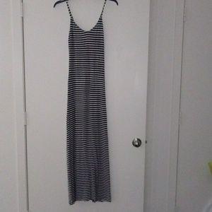 Strip Long maxi dress